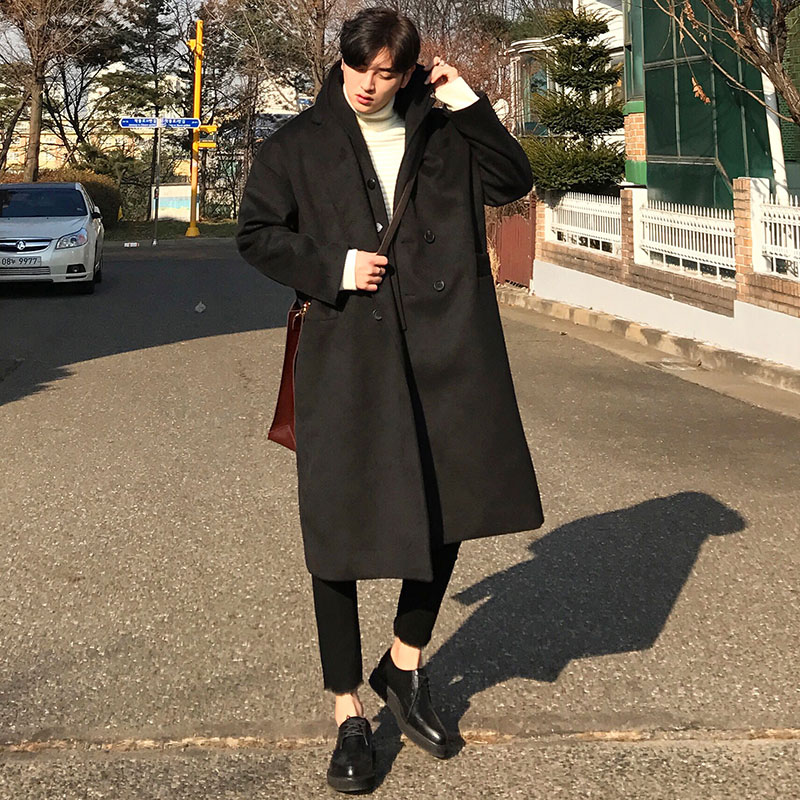 Over GRV Double Neck Coat_O254 ( 2 colors )