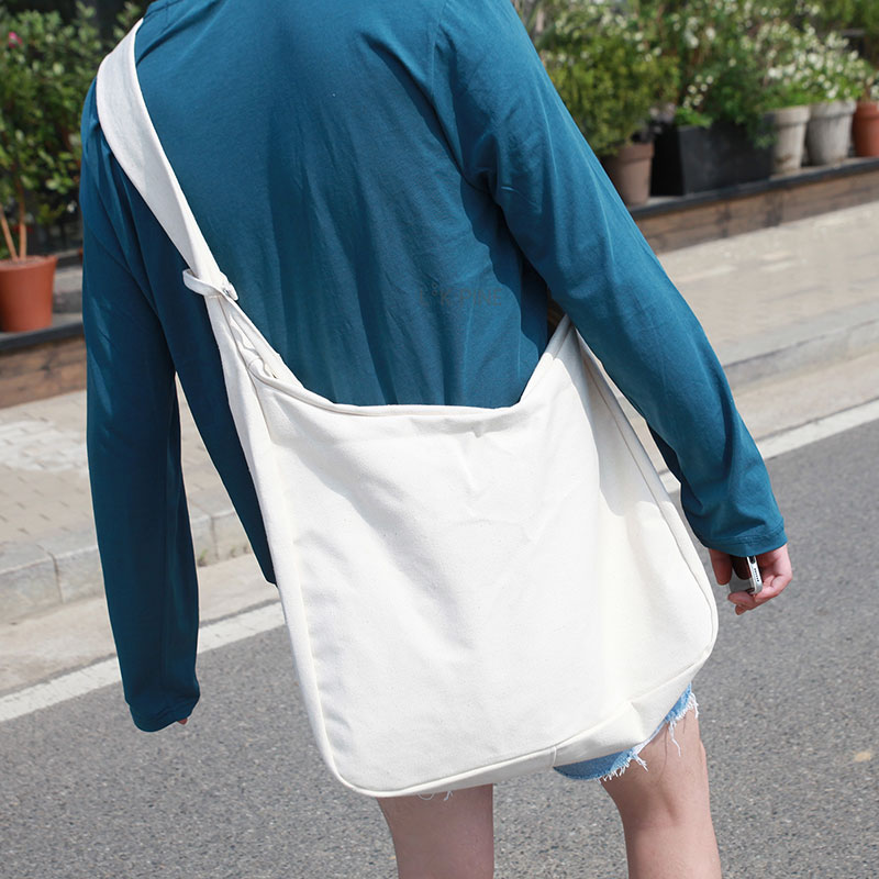 Cotton Messenger Bag_B12 ( 4 Colors )