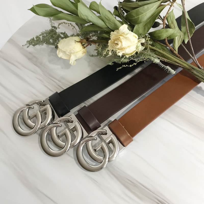 #GG Silver Metal Belt_A116