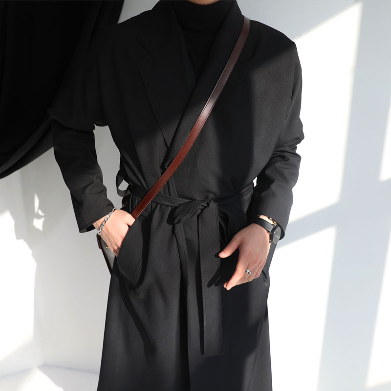 BL Gown Long Coat_O593 (BLACK)